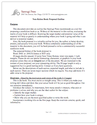 book proposal template word